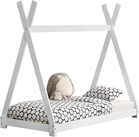 Esta resistente cama de madera de pino es la favorita de los niños. Es ideal para decorar cualquier