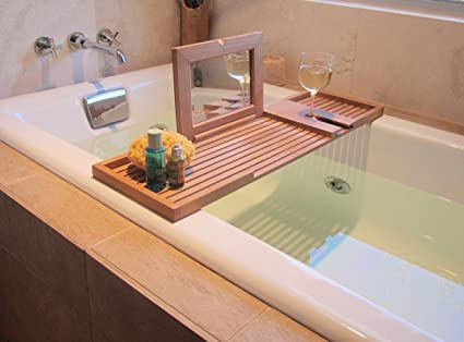 Amazon.com: Westminster Teak Pacifica Bathtub Tray: Home & Kitchen