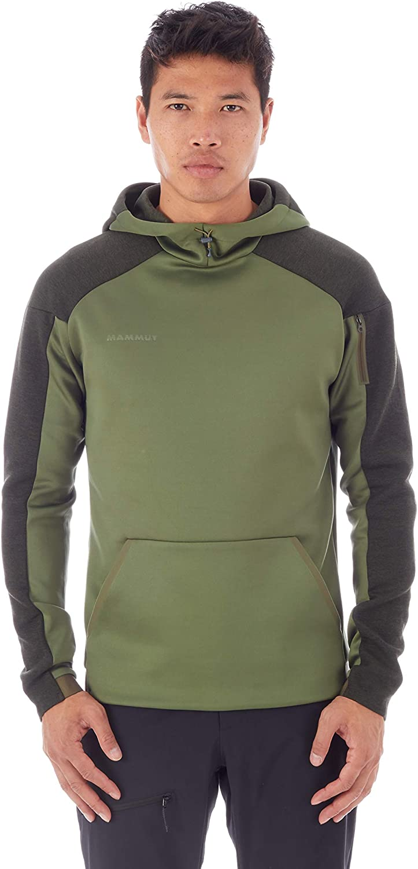 Mammut Herren Midlayer Pullover mit Kapuze Logo Midlayer