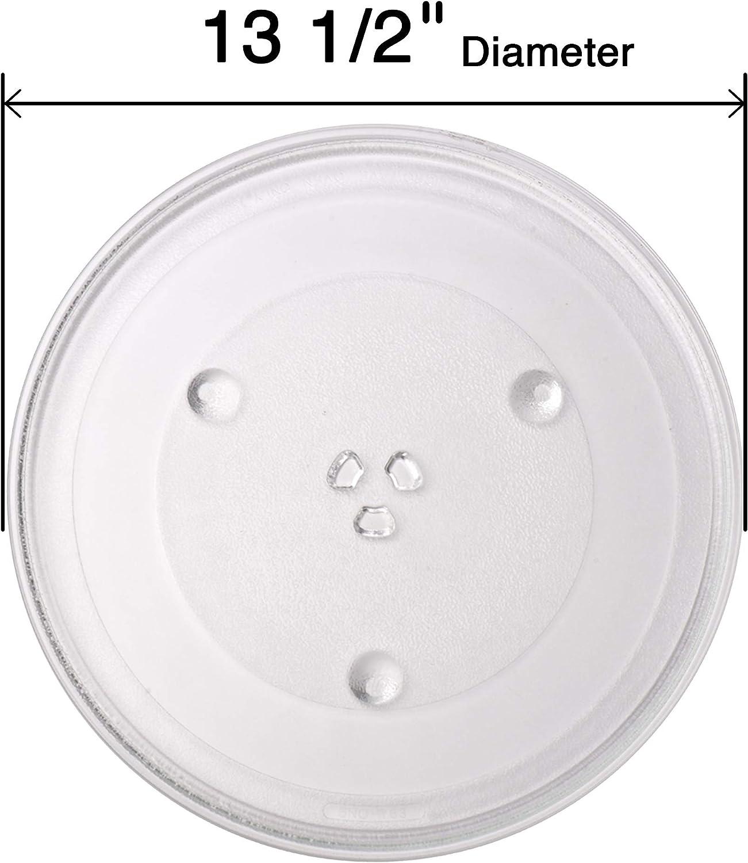 F06015Q00AP Exact Replacement Part for Panasonic 13.5'' Microwave Glass Tray/F06015Q00AP/30QBP4119/TJF06015Q00AP(NOT FRIGIDAIRE-Compatible) - Dishwasher Safe: Home Improvement