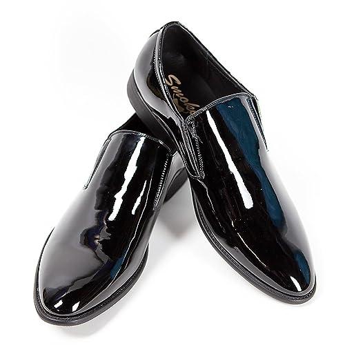 Smokies - Mocasines de material sintético para hombre negro negro satinado: Amazon.es: Zapatos y complementos