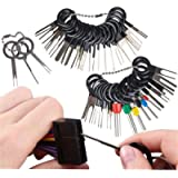 41 Pcs Car Terminal Removals Tool Set, Car Pin Extractor Wiring for Depinning Crimp Wire Connectors Terminal Pin…