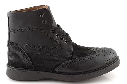 damalu Zapatos Botas Hombre Piel Bota de Invierno Botines Botas Vintage Altos Italiani: Amazon.es: Zapatos y complementos