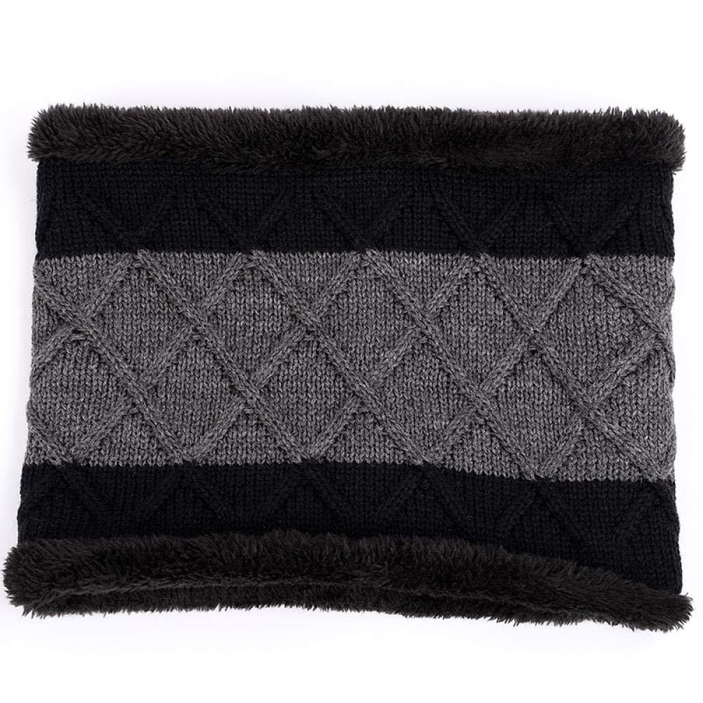 Outdoor Brand Knitting Beanie Hat Scarf Men s Winter PlaidVelvet Scarf Thicken Hedging Cap Scarves Warm Ski Bone@Gray