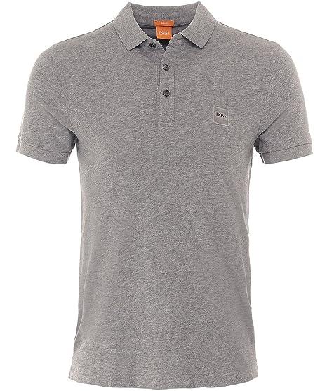 1748b9e10 Hugo Boss Orange Men's Slim Fit Pavlik Polo Shirt L Light Grey:  Amazon.co.uk: Clothing