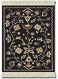 MouseRug MWS-1 - Alfombrilla de ratón con diseño de alfombra persa, color negro