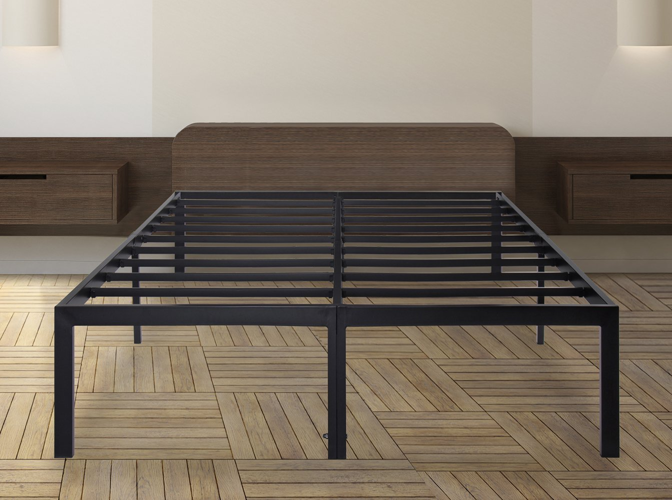 Olee Sleep 18 Inch Tall T 3000 Heavy Duty Steel Slat Bed Frame