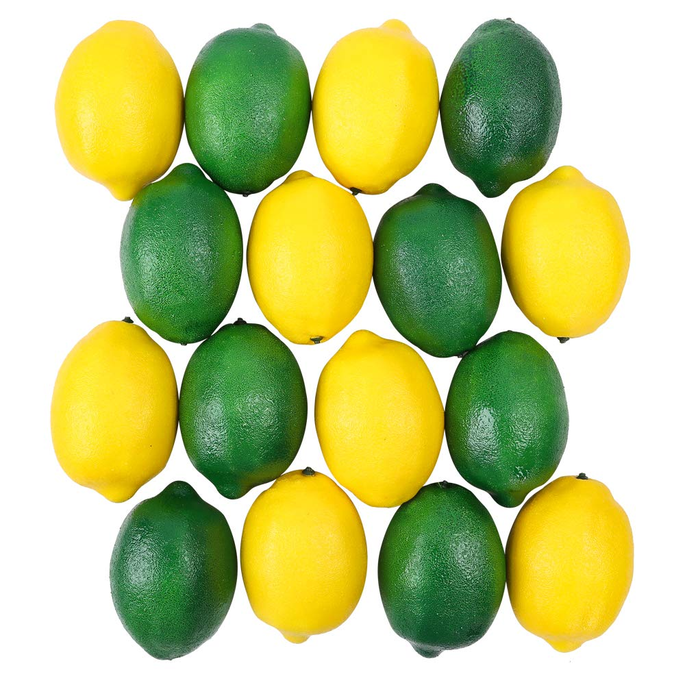 CEWOR 15pcs Fake Fruit Lifelike Lemons Simulation Yellow Lemon Artificial Fruit Decorations for Still Life Paintings Home House Kitchen Party Decoration