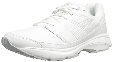 ASICS Women's Gel-Foundation Workplace Walking Shoe,White/Silver,6 2E US
