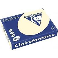 Clairefontaine Trophee Ramette de 250 feuilles papier couleur 160 g A4 Ivoire