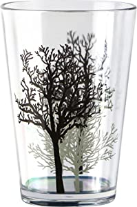 Corelle Coordinates by Reston Lloyd Timber Shadows Acrylic Juice Glasses, 8-Ounce, Set of 6