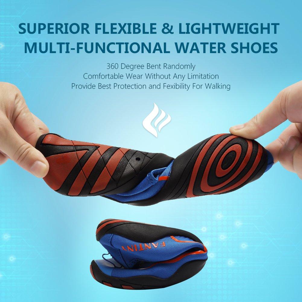 CIOR Water Shoes Aqua Men Women Kid's Quick-Dry Aqua Shoes Shoes for Swim, Walking, Yoga B072V3YYBQ 12 B(M) US Women / 10.5 D(M) US Men|Adm.blue 29128d