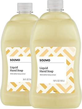 2-Pack Solimo Liquid Hand Soap Refill Milk and Honey