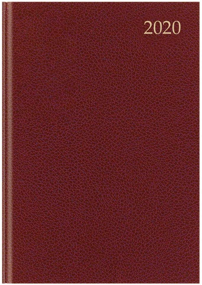 Burgundy Top Sale A4 Week to View 2020 Diary
