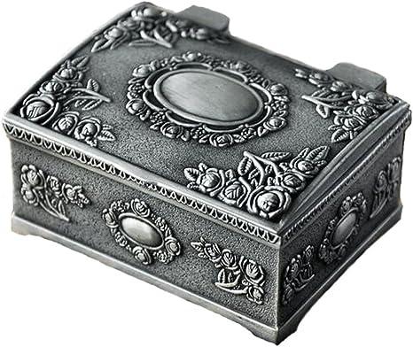 Belons, joyero rectangular, caja de bisutería, estuche tallado ...