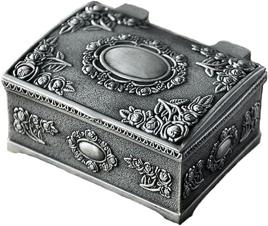 Belons, joyero rectangular, caja de bisutería, estuche tallado, caja para guardar joyas para mujeres, niñas, niños.: Amazon.es: Hogar