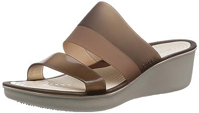 fb853314b8595e crocs Colorblock Women Wedge in Brown: Buy Online at Low Prices in ...