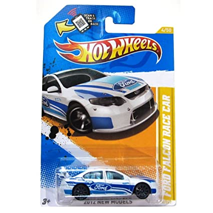 Hot Wheels New 2012 Ford Falcon Race Car White