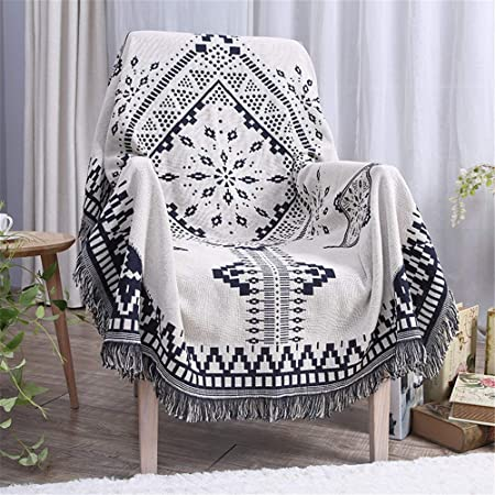 Lpinvin HO Manta Algodón exótico Boho Acolchado Mantas multifunción Tiro Manta sofá Toalla decoración para el hogar La Manta del Tiro (Color : Multi-Colored, Size : 130cm*180cm): Amazon.es: Hogar