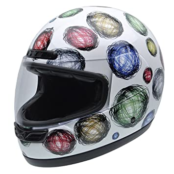 NZI 050268G407 Class Jr Graphics Scribble Casco de Moto, Diseño Peces de Colores, Talla
