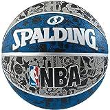 Spalding 1700009 Rubber Basket Ball, Size 7 (Grey/Blue/Black)