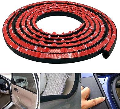 AutoEC Type D Joint d/étanch/éit/é pour Voiture Coffre Joint Voiture Portiere en Caoutchouc Bruit Noir 2.75M/ètres Vitre