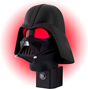 Star Wars Mini Darth Vader LED Night Light, Collector's Edition, Plug-in, Dusk-to-Dawn Sensor, Disney, Red Glow, Ideal for Bedroom, Bathroom, Nursery, 44607