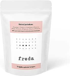 Freda Tampones de algodón orgánico – Regular, x8: Amazon.es: Salud ...