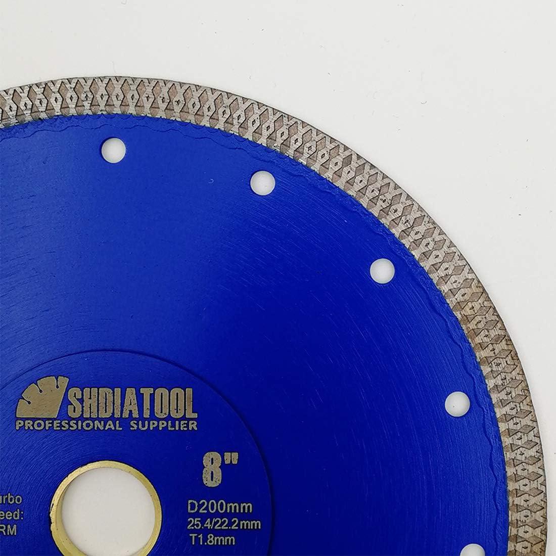 SHDIATOOL Disco Tronzador de Diamante 300mm con X Malla Turbo Hoja de Sierra para Porcelana Azulejos Cer/ámica M/ármol