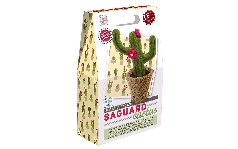 The Crafty Kit Co Needle Felting Kit-saguaro