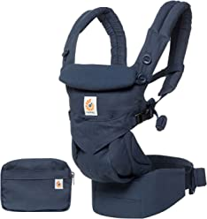 Ergobaby Omni 360 All-in-One Ergonomic Baby Carrier, All Carry Positions, Newborn to Toddler, Midnight Blue