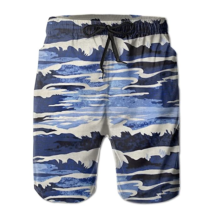 350cf8653a Abstract Oceanus Navy Fashion Mens Shorts Swim Trunks With Cargo Pockets