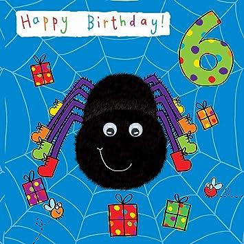 Twizler Geburtstagskarte Zum 6 Geburtstag Mit Spinne Und