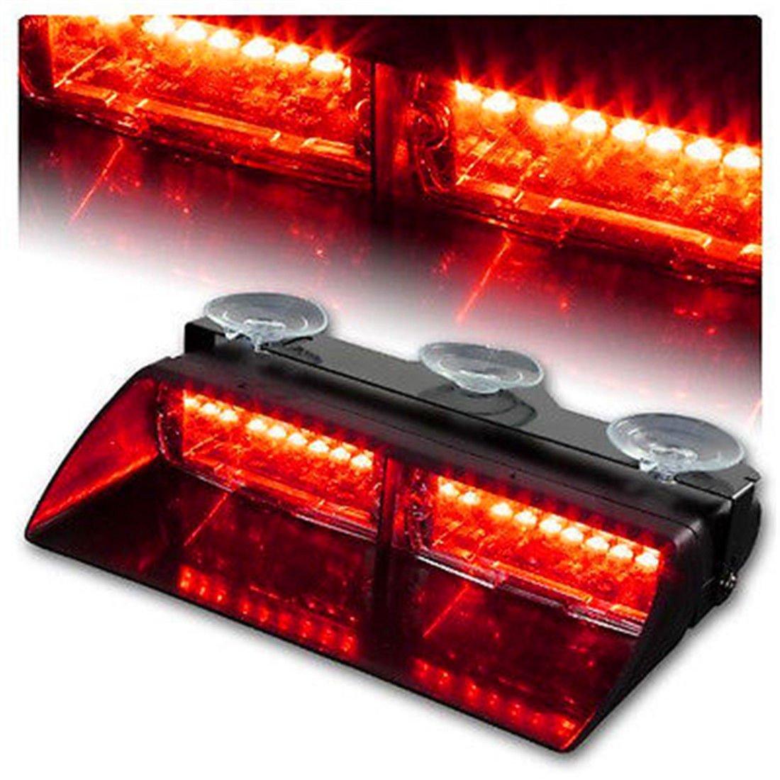 XT AUTO Car 16-led 18 Flashing Mode Emergency Vehicle Dash Warning Strobe Flash Light Red Blue