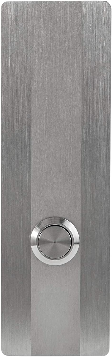 """MSH Modern Stainless Hardware Model R3 Stainless Steel Doorbell Button in 304 Stainless Steel 1.57"""" x 5.11"""" x 5/32"""" (4mm thick)"""