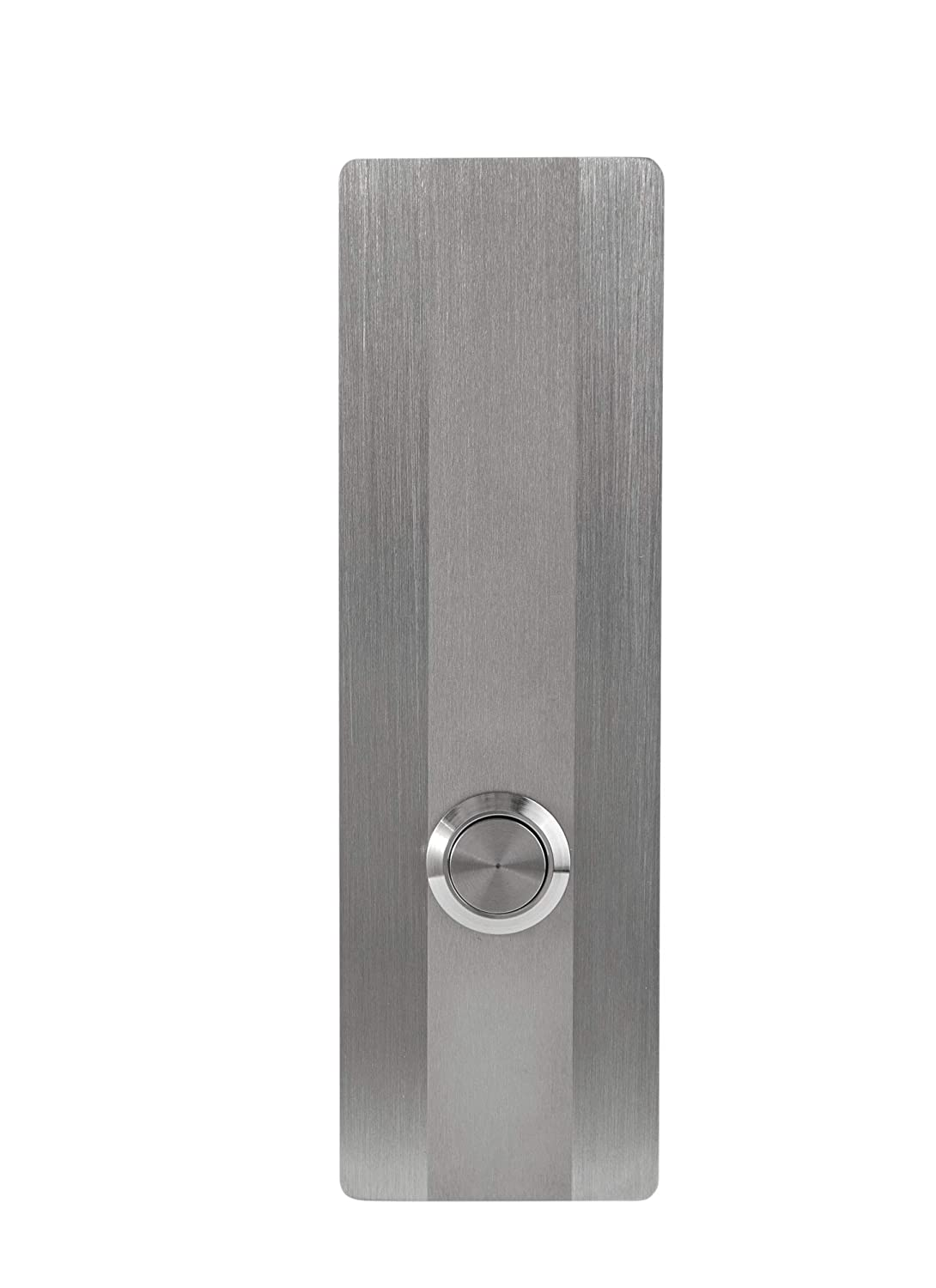 """Modern Stainless Hardware Model R3 Stainless Steel Doorbell Button in 304 Stainless Steel 1.57"""" x 5.11"""" x 5 32"""" 4mm thick"""