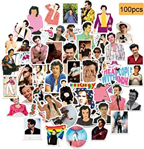 100Pcs Singer Styles Waterproof Vinyl Stickers Decals for Laptop Water Bottle Bike Skateboard Luggage Computer Hydro Flask Toy Phone Snowboard. DIY Decoration as Gifts for Kids Girls Teens.