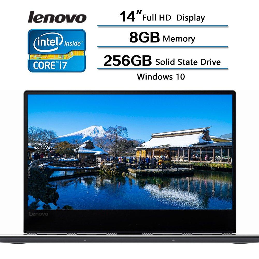 2018 Newest Flagship Lenovo Yoga 910 2-in-1 Laptop, 14'' Full HD (1920 x 1080) Touch Screen, Intel Core i7-7500U, 8GB Memory, 256 GB Solid State Drive, Windows 10 (Dark Gray)