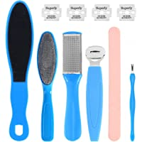 HEALLILY 8PCS Pedicure Kit Set Manicure Remover Foot Nail Peeling Tools Rasp File Hard Dead Skin Fork for Household Foot Care