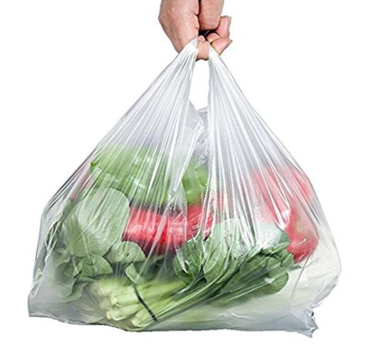 100PCS 8.85X15.7( 22.5X40cm)Clear Vest Plastic T-shirt Carrier Bags For Retail Shopping Supermarket Household Food Storage Take-away Packaging Bag ASTRQLE