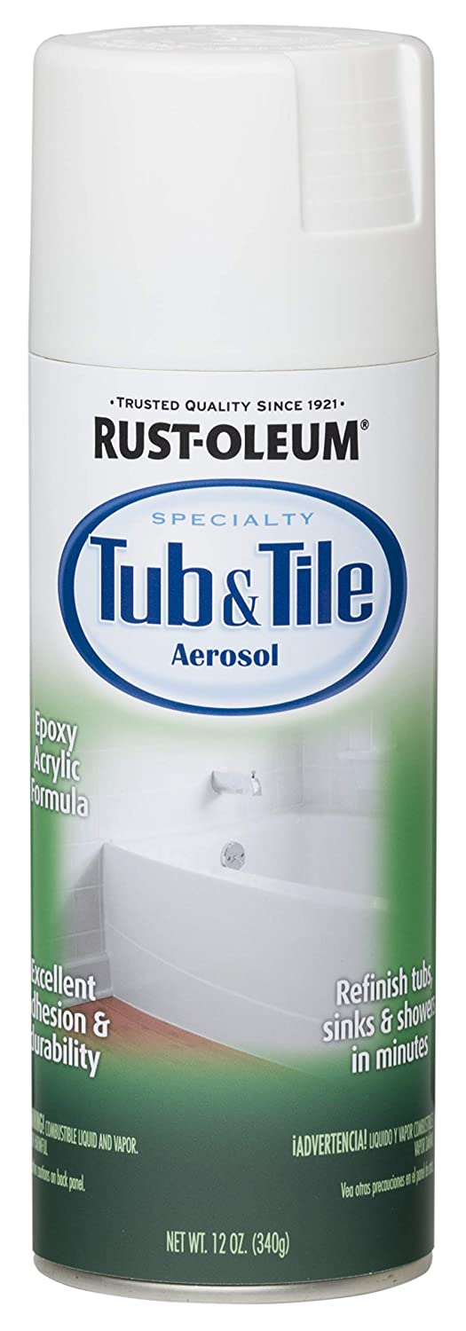 Rust-Oleum 280882 Specialty Tub and Tile Spray Paint, 12-Ounce ...