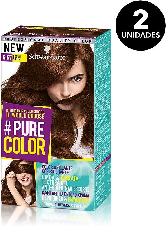 Pure Color de Schwarzkopf Tono5.57 Brown Sugar - 2 uds - Coloración Permamente