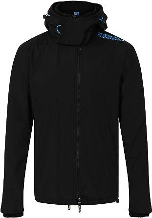 Superdry black riding coat