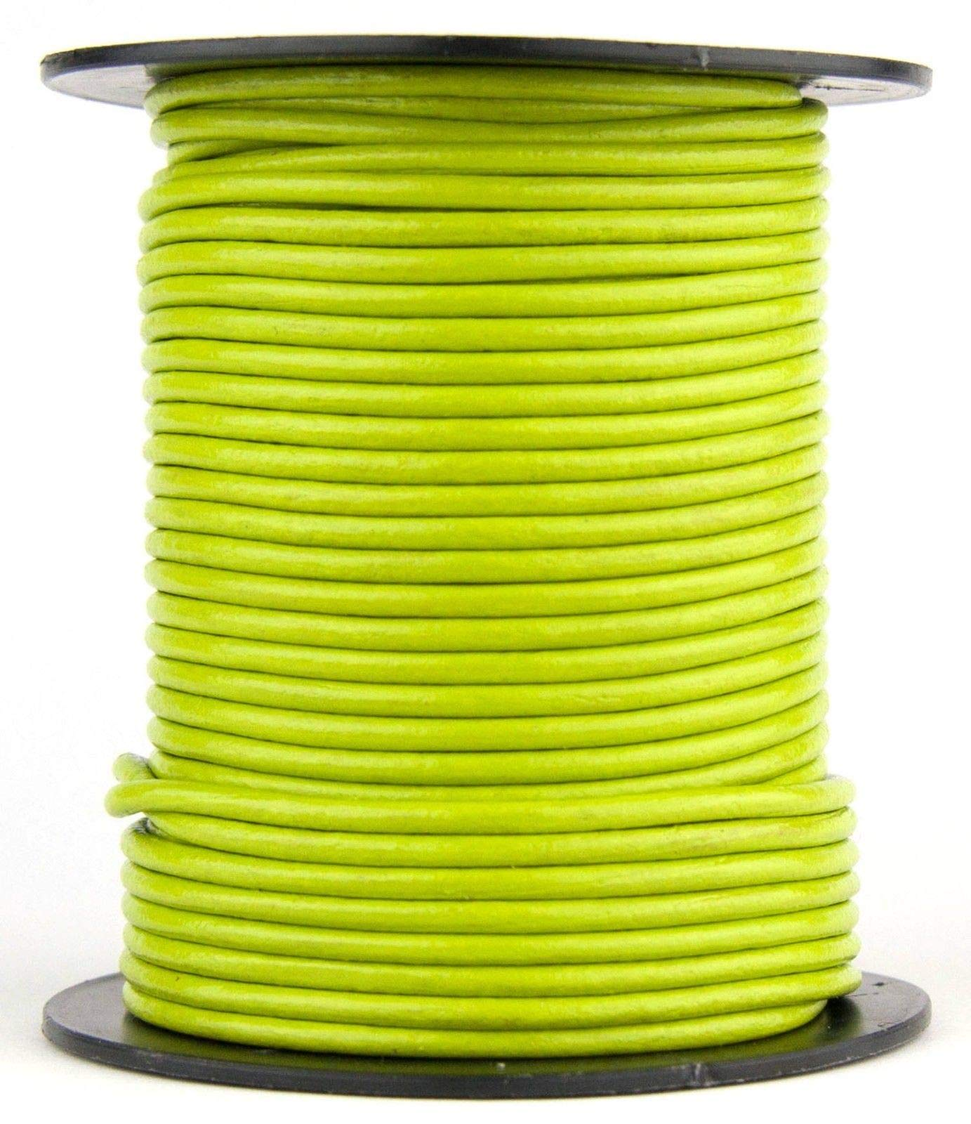 Light Green Round Leather Cord 1.5mm 100 Meters (109 Yards) by RERA SHOP (Image #1)