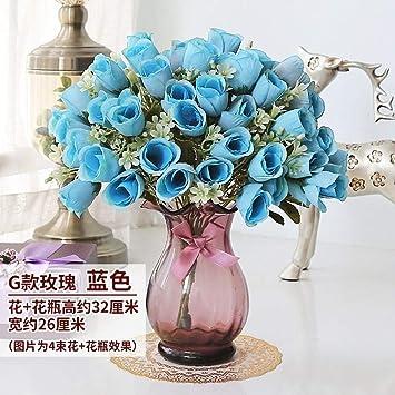 QZHE Flor falsa Decoración De La Sala De Estar Decoración Floral ...