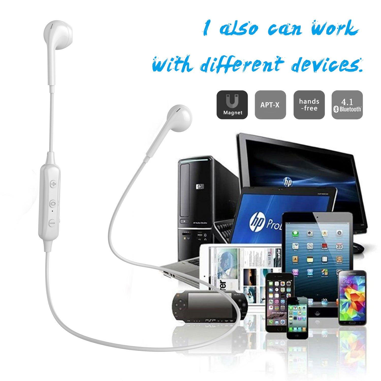 Charlemain Ecouteur Bluetooth V4.1, Oreillette sans Fil Stéréo avec Microphone Casque Anti Transpiration pour Running Jogging Yoga