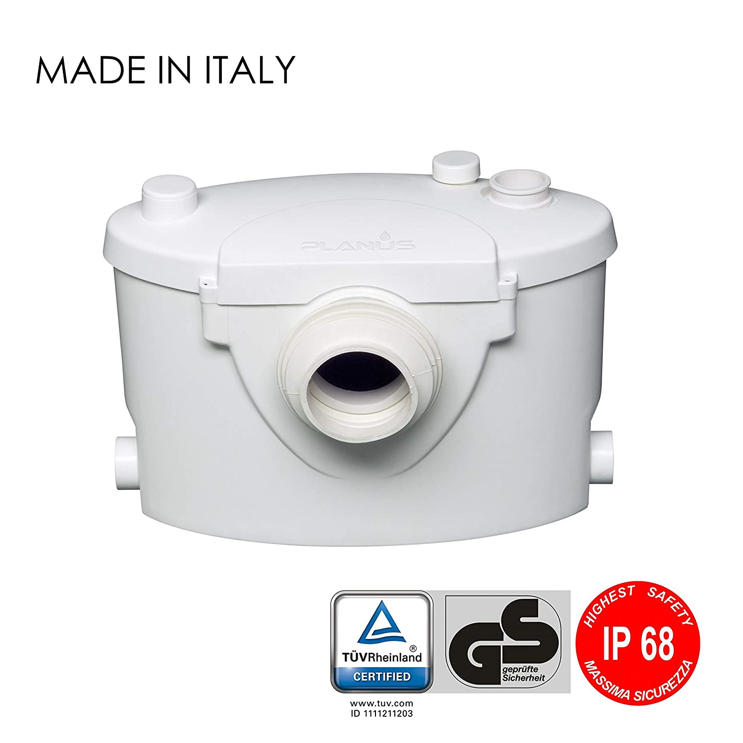 Planus Broysan 4 Broyeur wc adaptable - certifié IP68 - Made In Italy