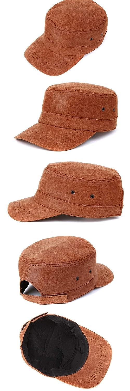 Krgvxfs Genuine Leather Hat Male Baseball Cap Adult Leisure Peaked Cap Autumn Winter Flatcap Elderly Hat