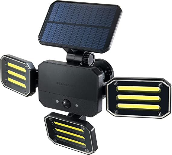 Bionic FLOODLIGHT Deluxe 50% Brighter - by Bell+Howell Solar-Powered, Swiveling, Motion-Sensing, Outdoor/in All-Season w/ 108 High Power LED Bulbs in Adjustable Panels – Remote Control As Seen On TV