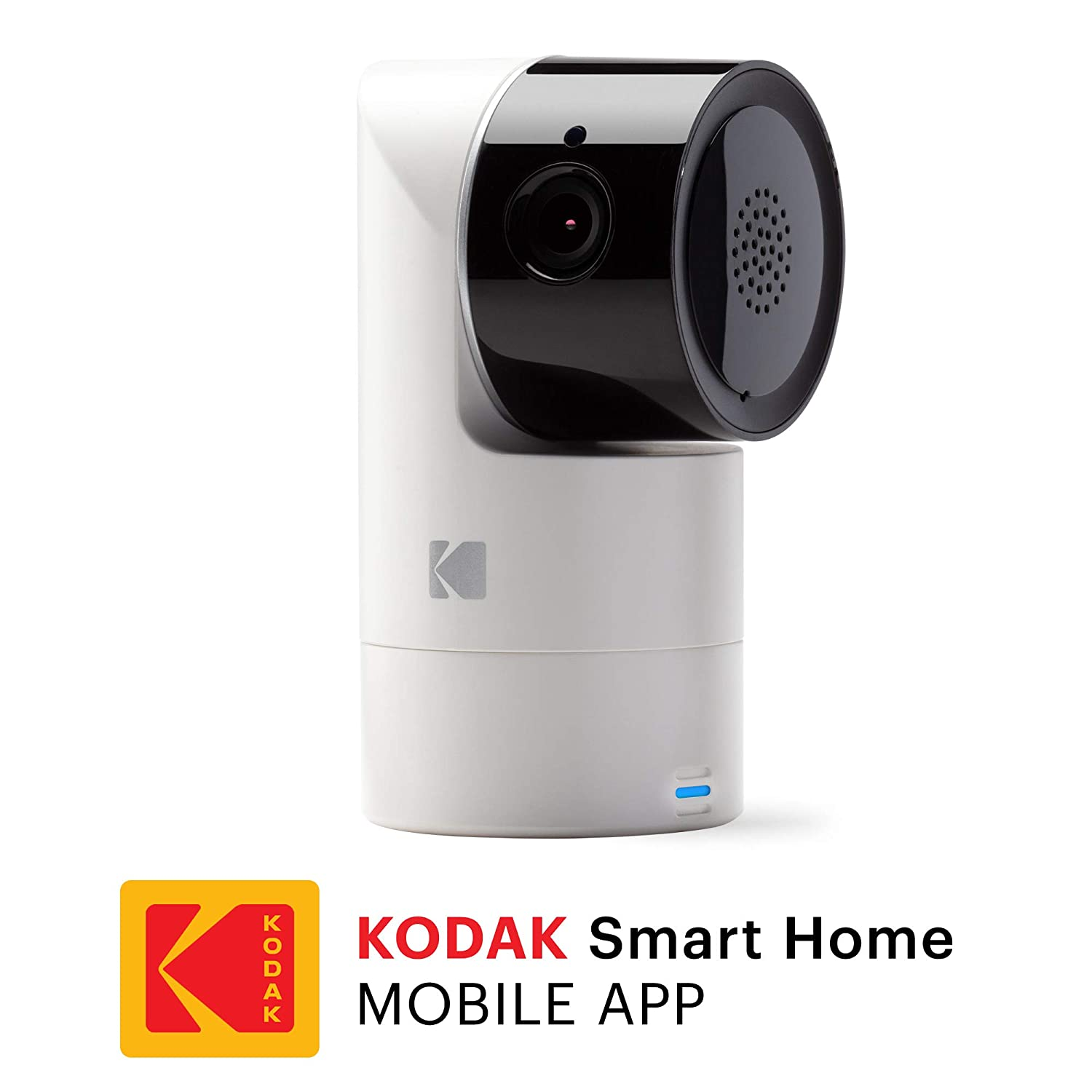 KODAK Cherish C125 Add-On Smart Video Baby Camera with Mobile App, Remote Tilt, Pan and Zoom Two-Way Audio, Night-Vision, Long Range – WiFi Indoor Camera Smart WiFi Baby Monitor Add-on